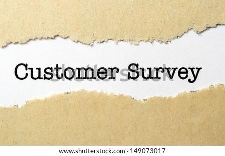 Customer survey - stock photo