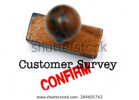 Customer survey confirm - stock photo