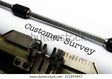 Customer survey form - stock photo