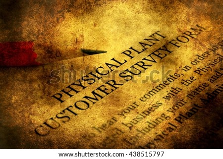 Customer survey form grunge concept - stock photo