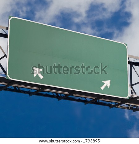 Customizable freeway sign version 3 - stock photo