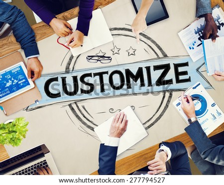 Customize Customization Meeting Seminar Concept - stock photo