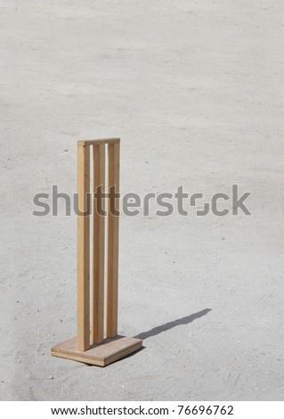 Customized cricket wickets specially for sandy ground - stock photo