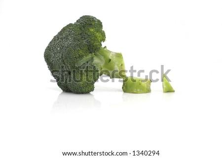 Cut brocoli - stock photo