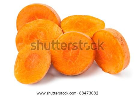cut carrot - stock photo