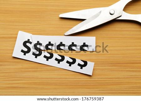 Cut cost - stock photo