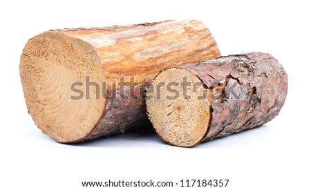 Cut logs   Renewable  energy. - stock photo