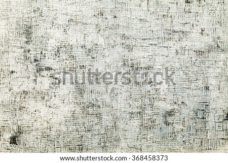 Cut Newspaper Pieces, Creative Grunge Background - stock photo