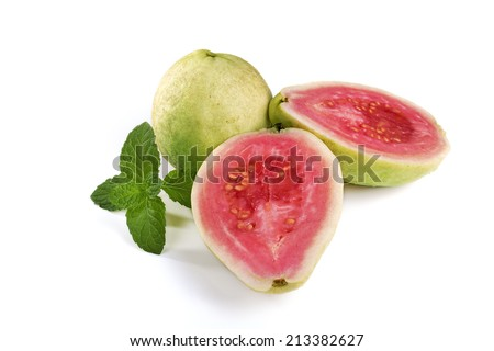 Cut of Guava - stock photo