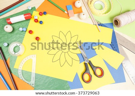 Cut out a flower - stock photo