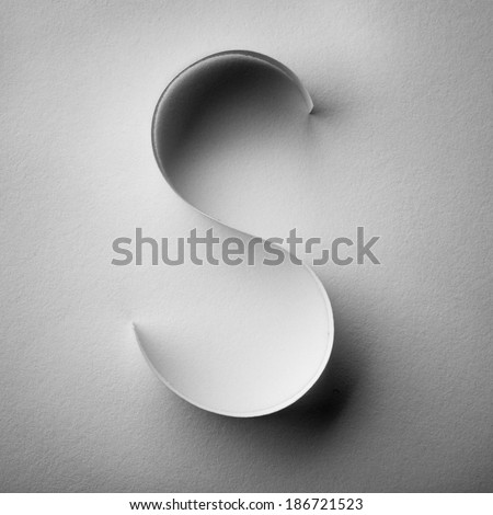 cut out from paper stripes alphabet lowercase letters - stock photo