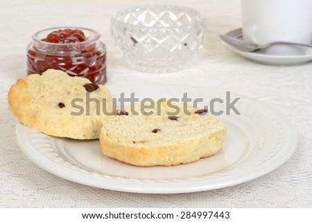 cut scone shallow DOF - stock photo