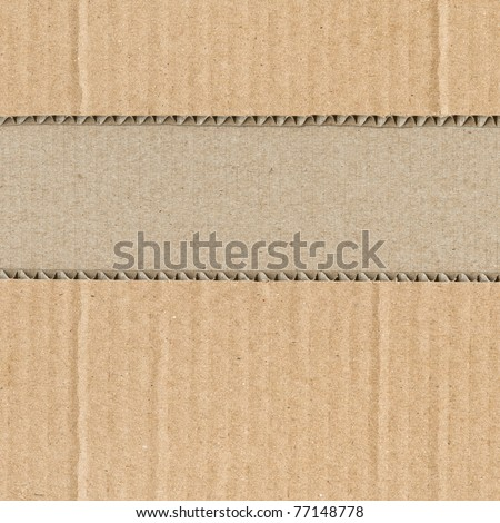 Cut-up corrugated cardboard - stock photo