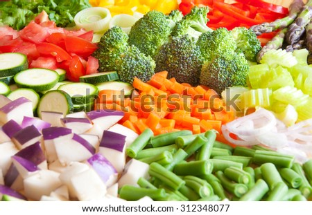 Cut vegetables - stock photo