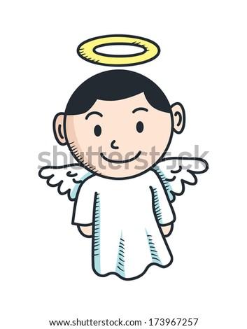 cute angel cartoon - stock photo