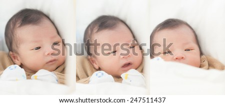 cute asian baby - stock photo