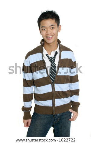 Cute Asian Male - stock photo