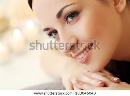 Cute, attractive brunette - stock photo