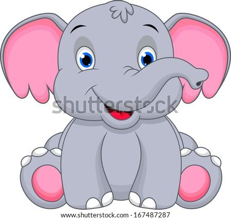 Cute baby elephant cartoon - photo#6