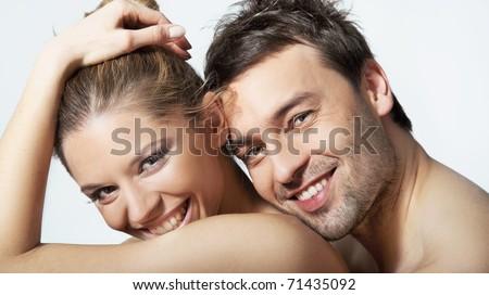 Cute couple - stock photo