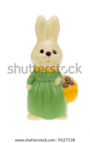 cute easter bunny isolated on a white background - stock photo