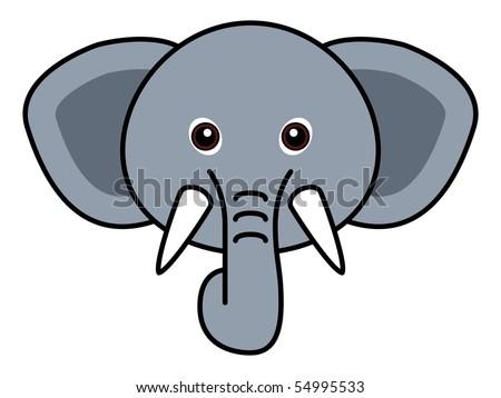 Cute Elephant Raster - stock photo