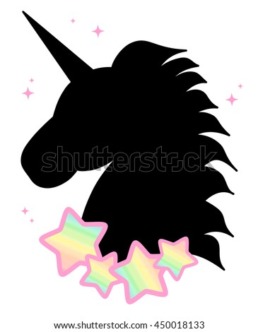 Unicorn Head Silhouette Stock Photos Images amp Pictures