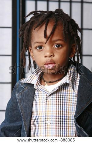 Cute fashionable kid - stock photo