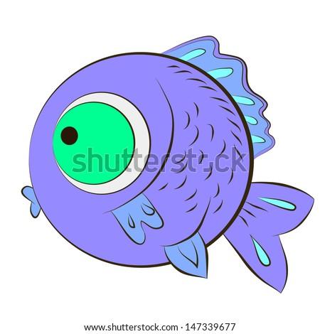 Cute fish  - stock photo