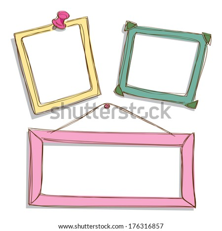 cute frame - stock photo