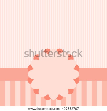 Cute frame design and card.  - stock photo