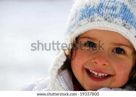 Cute girl winter portrait - stock photo