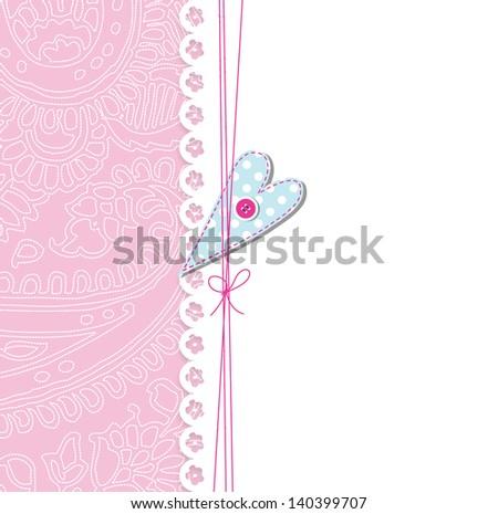 Cute greeting card - stock photo
