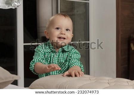 Cute kid dreaming - stock photo
