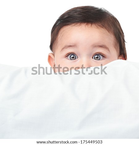 Cute little baby boy - stock photo