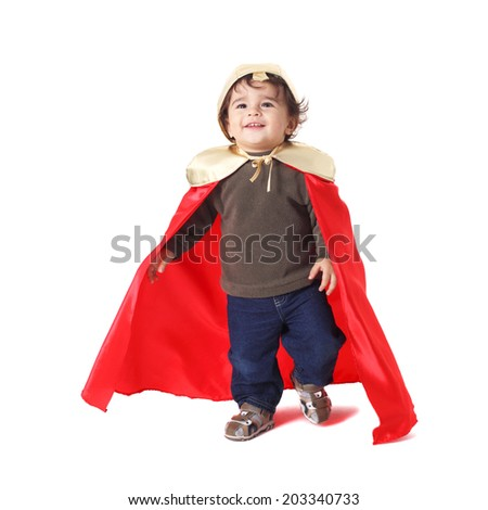cute little baby dressed as a prince  - stock photo