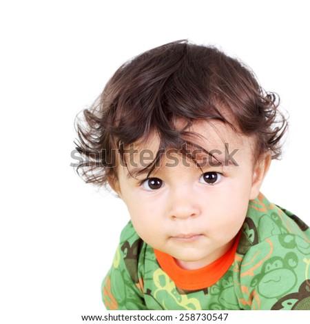 cute little handsome boy closeup - stock photo