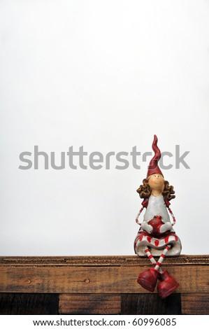 cute little puppet - stock photo