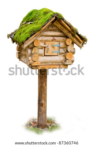 Cute mailbox isolated - stock photo