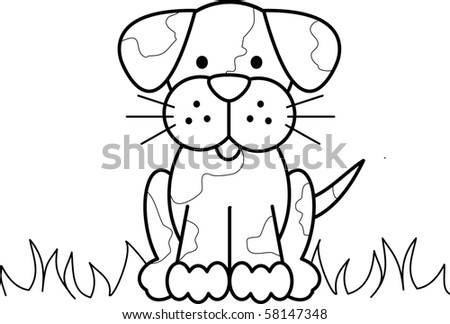 Cute Puppy - stock photo