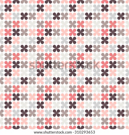 Cute retro abstract floral seamless pattern.  illustration for flower design. Can be used for wallpaper, cover fills, web page background, surface textures. Pink, black and white colors. - stock photo