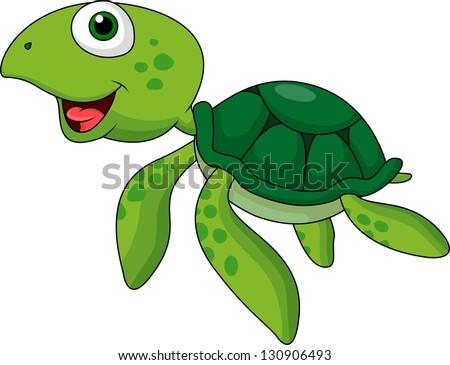 Cute animated sea turtles - photo#3