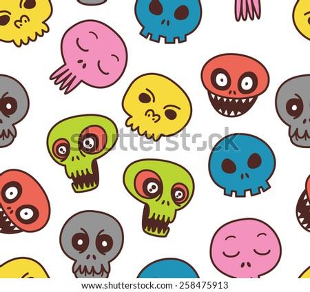 cute skull background - stock photo