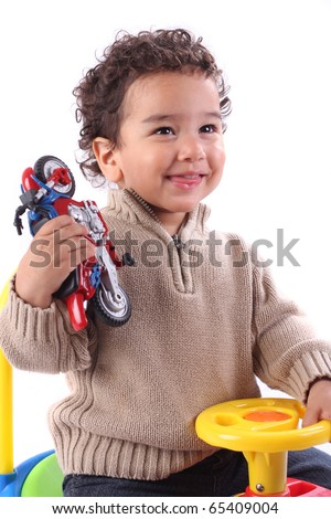 Cute smiling toddler boy - stock photo