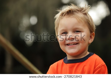 Cute Toddler Headshot - stock photo