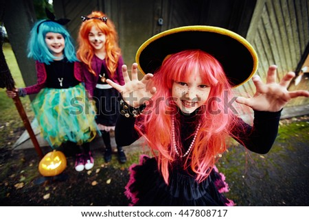 Cute witch - stock photo