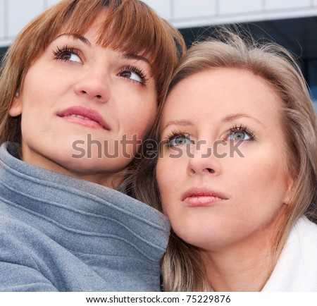 Cute young ladies - stock photo