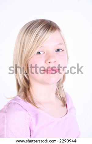cute young lady - stock photo