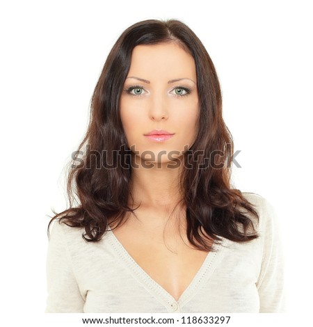 Cute young woman, portrait - stock photo