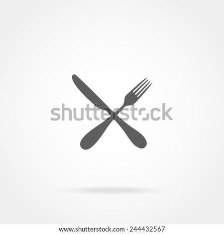 cutlery icon - stock photo